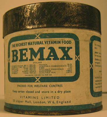 Tin of Bemax Natural Vitamin Food