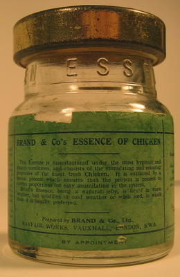 Glass jar of Brand & Co's Essence of Chicken