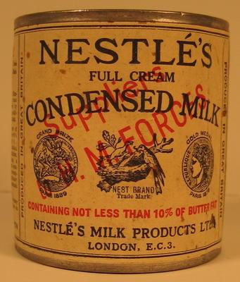 Tin of Nestle's Condensed Milk