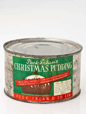 Tin of Peek & Frean's Christmas Pudding