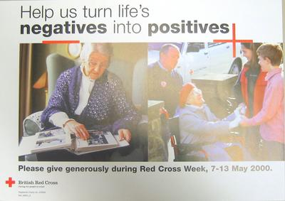 colour poster advertising Red Cross Week, 7-13 May 2000