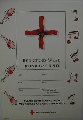 Poster: 'Red Cross Week Buskaround'; Printed Docs (museum)/poster; 2012/7