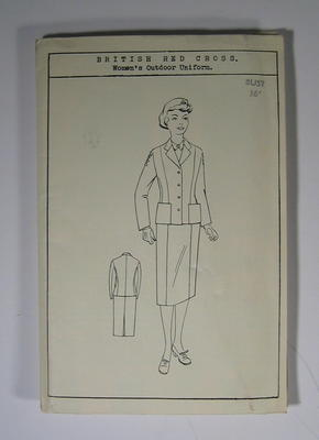 Dress pattern for British Red Cross Women's Indoor uniform