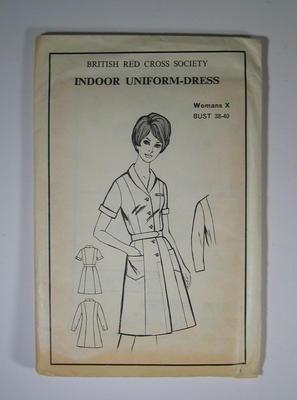 Dress pattern for British Red Cross Women's Indoor uniform-dress, for bust 38-40.