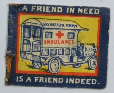 fundraising flag: 'A Friend in Need is a Friend Indeed'