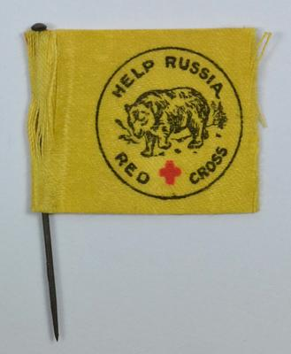 flag: Help Russia - Red Cross