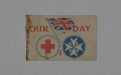 paper flag: 'Our Day: Thank You'