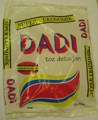 1 kg washing powder (empty): DADI toz deterjan