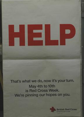 poster advertising Red Cross Week
