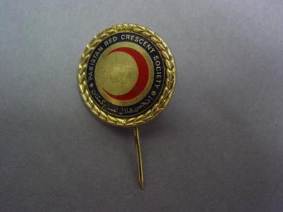 Pakistan Red Crescent Society pin badge