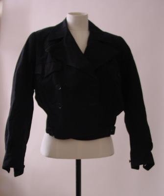 black double breasted jacket