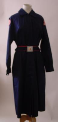 Navy blue dress with shirt collar
