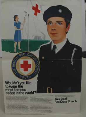 Colour poster recruitment poster for British Red Cross Society Youth