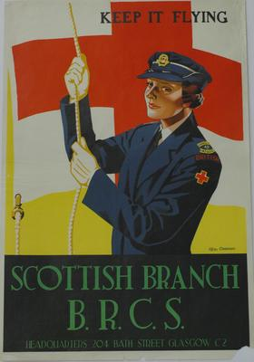 recruitment poster issued by the Scottish Branch B.R.C.S