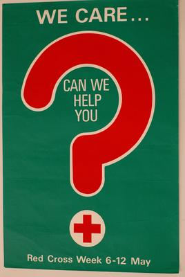 poster produced for Red Cross Week 1973