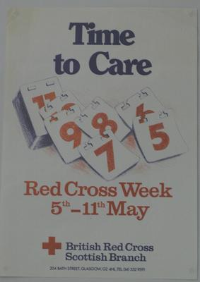 poster produced for Red Cross Week in Scotland