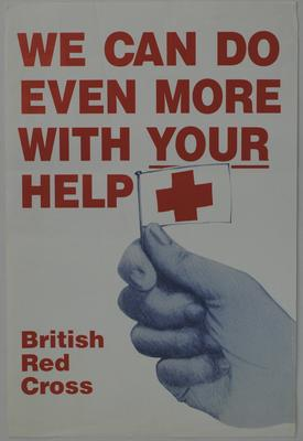 promotional British Red Cross poster