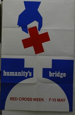Oversized poster produced for Red Cross Week.