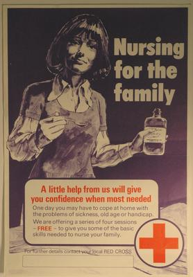 poster advertising a 'Nursing for the family' course