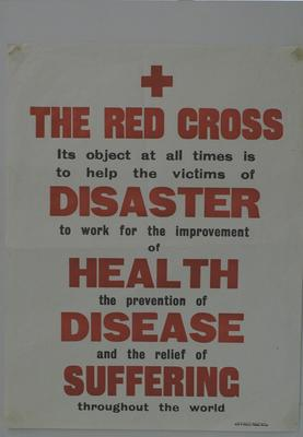 poster advertising the aims of the British Red Cross