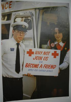British Red Cross recruitment poster
