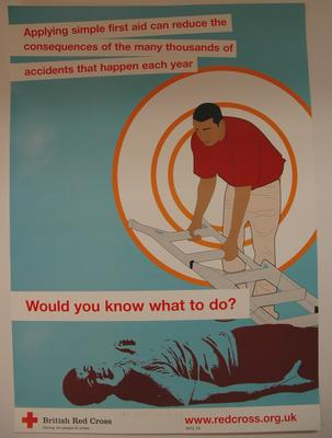 Poster advertising Red Cross first aid courses