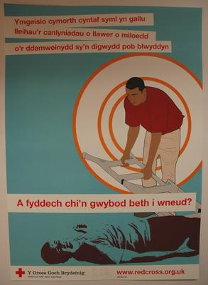 Small poster the same design as 2227/1 but with the text in Welsh.
