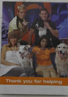 Double sided poster from the Blue Peter Welcome Home Appeal; Posters/poster; 2242/1