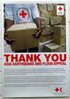 Asia Earthquake and Tsunami Appeal poster