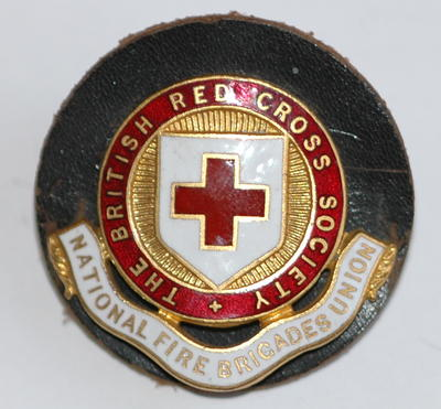 British Red Cross Society: National Fire Brigade Union badge