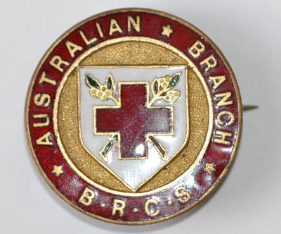 Australian Branch B.R.C.S. badge