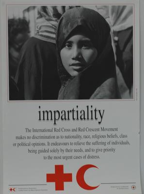 Poster, one of a set of seven, illustrating Impartiality