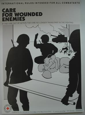 Poster promoting International Rules Intended for all Combatants