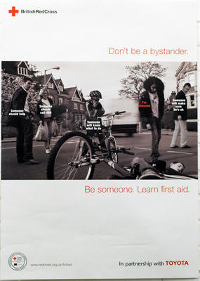 poster advertising the Road Safety Campaign, 2005
