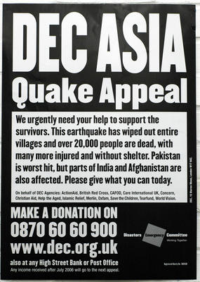 DEC Asia Quake Appeal poster