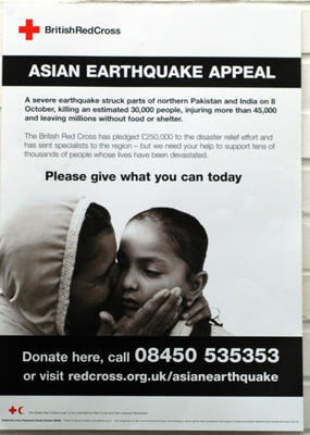 Asian Earthquake Appeal poster