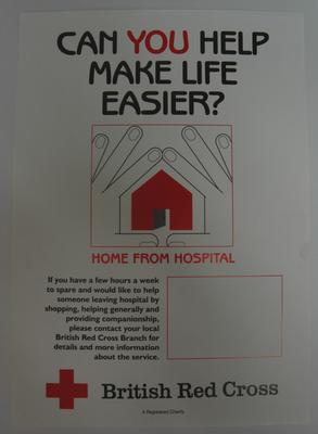 poster advertising the Home from Hospital service