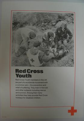 poster advertising British Red Cross Youth