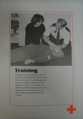 poster advertising British Red Cross Training