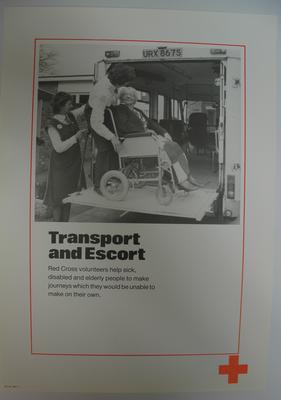 poster advertising British Red Cross Transport and Escort service