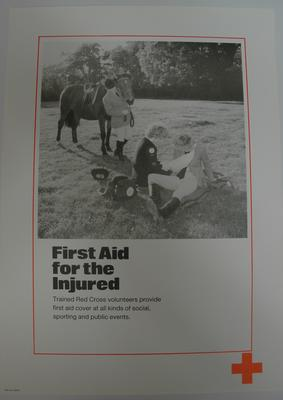 poster advertising First Aid for the injured