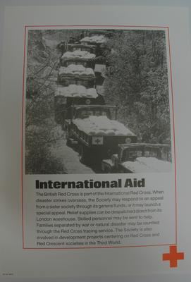 poster advertising British Red Cross International Aid