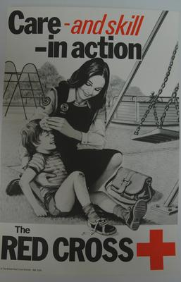 poster: 'Care - and skill - in action. The Red Cross'; Printed Docs (museum)/poster; 2293/30