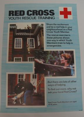 recruitment poster for British Red Cross Youth