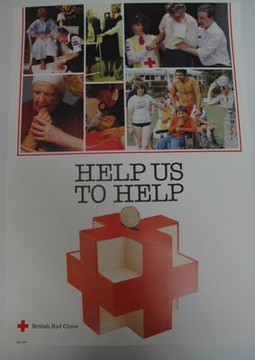 poster advertising British Red Cross services