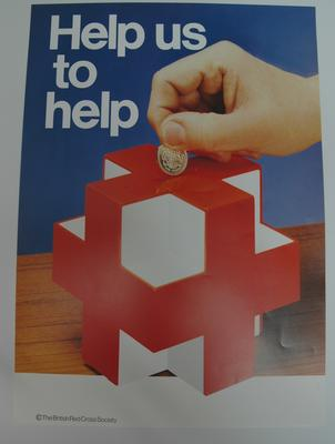 Poster appealing for financial donations