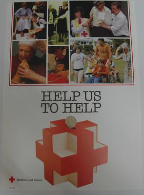 poster advertising British Red Cross services; Printed Docs (museum)/poster; 2293/42