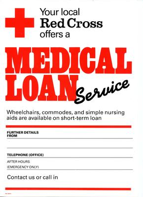 poster advertising Medical Loan Service
