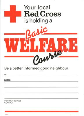 poster advertising a Basic Welfare Course