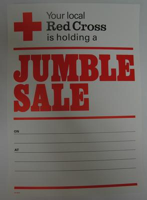 poster used to advertise a Jumble Sale